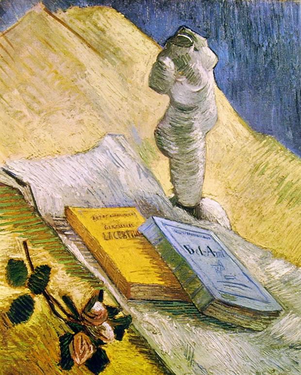 Natura morta con libri e gesso