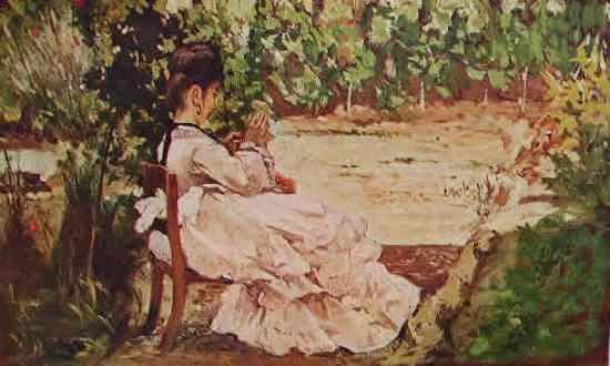 Fattori - Giovane signora in giardino
