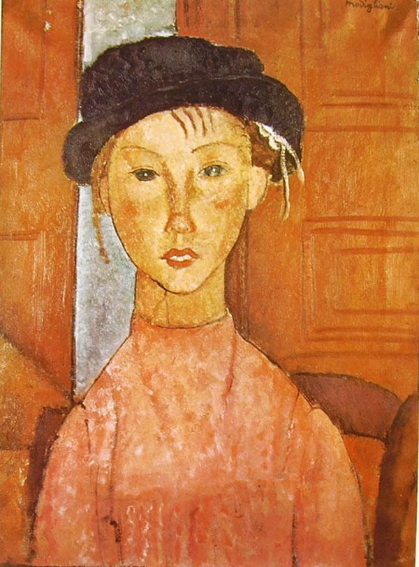 Amedeo Modigliani: Bambina con berretto