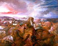 Paesaggio di devastazione bellica