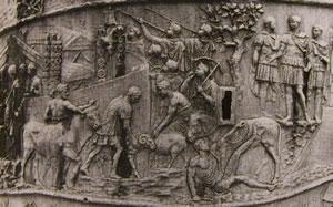 Particolare della colonna Traiana: scena 9