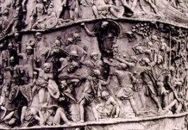 Particolare della colonna Traiana: scena 24