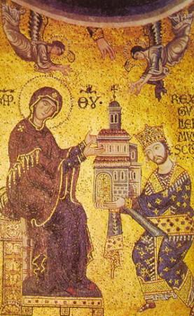S. Guglielmo di Sicilia, Mosaico del duomo di Monreale