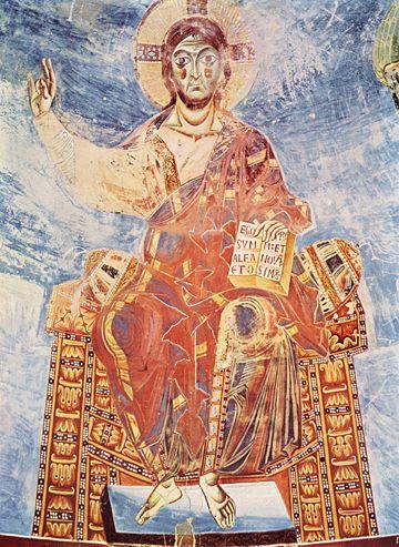 Il Cristo Pantocratore, basilica benedettina Sant'Angelo in Formis (Capua)
