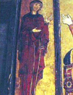 Trittico del SS Salvatore, Tivoli: La Vergine