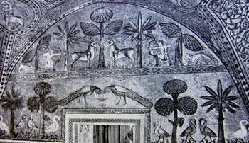 Interno del Palazzo Reale di Palermo Figurazioni allegoriche e scene di caccia