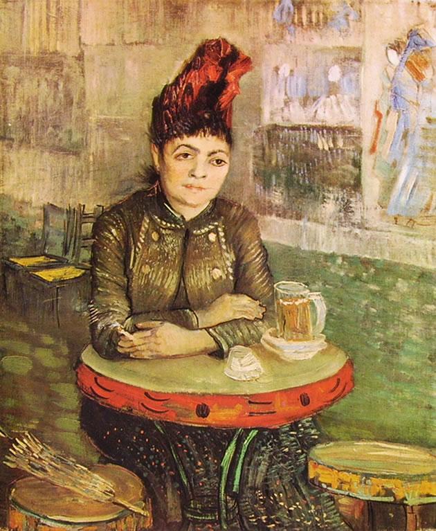 Donna al Cafè du Tambourin