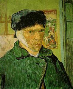 Autoritratto di Vincent Van Gogh, 1889,