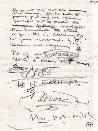 Una pagina dell'originale del Livro do Desassossego