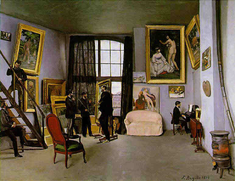Frédéric Bazille L'atelier di Bazille 1870 olio su tela  © RMN-Grand Palais-Grand Palais-Grand Palais (Musée d'Orsay) / Hervé Lewandowski