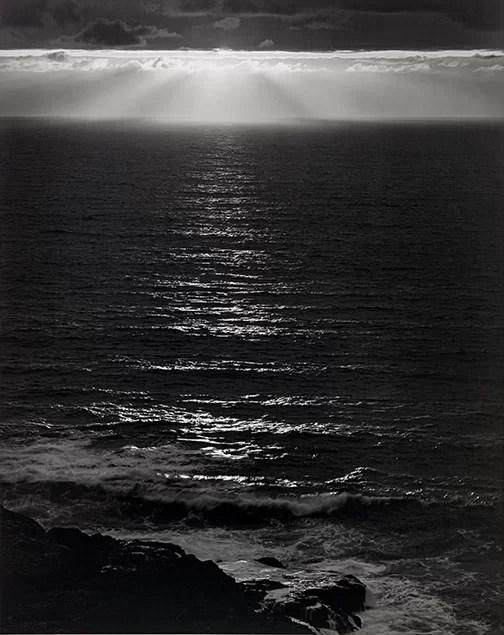 © Ansel Adams, 1946, Sundown, the Pacific