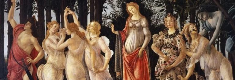 «La Primavera» di Botticelli: il tripudio della sensualità