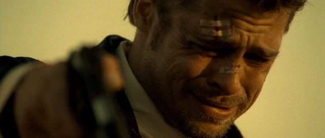 Nel deserto. Brad Pitt