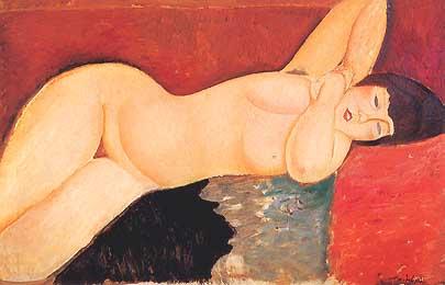 Amedeo Modigliani Nu aux mains jointes (nudo coricato con le mani unite) 1917 Pinacoteca Giovanni e Marella Agnelli Torino
