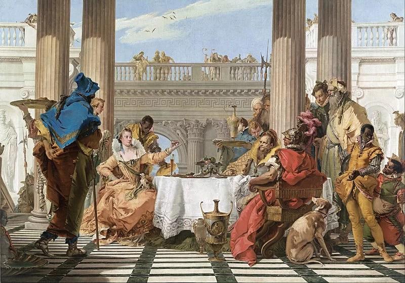"""G. B. Tiepolo, """"Il banchetto di Antonio e Cleopatra"""" (1744)"""