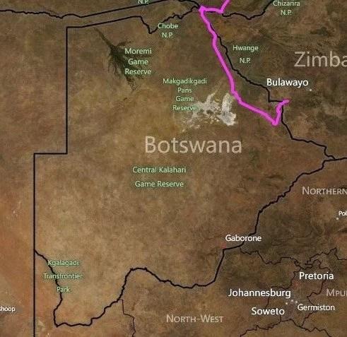 muri nel mondo - il muro tra Botswana e Zimbabwe