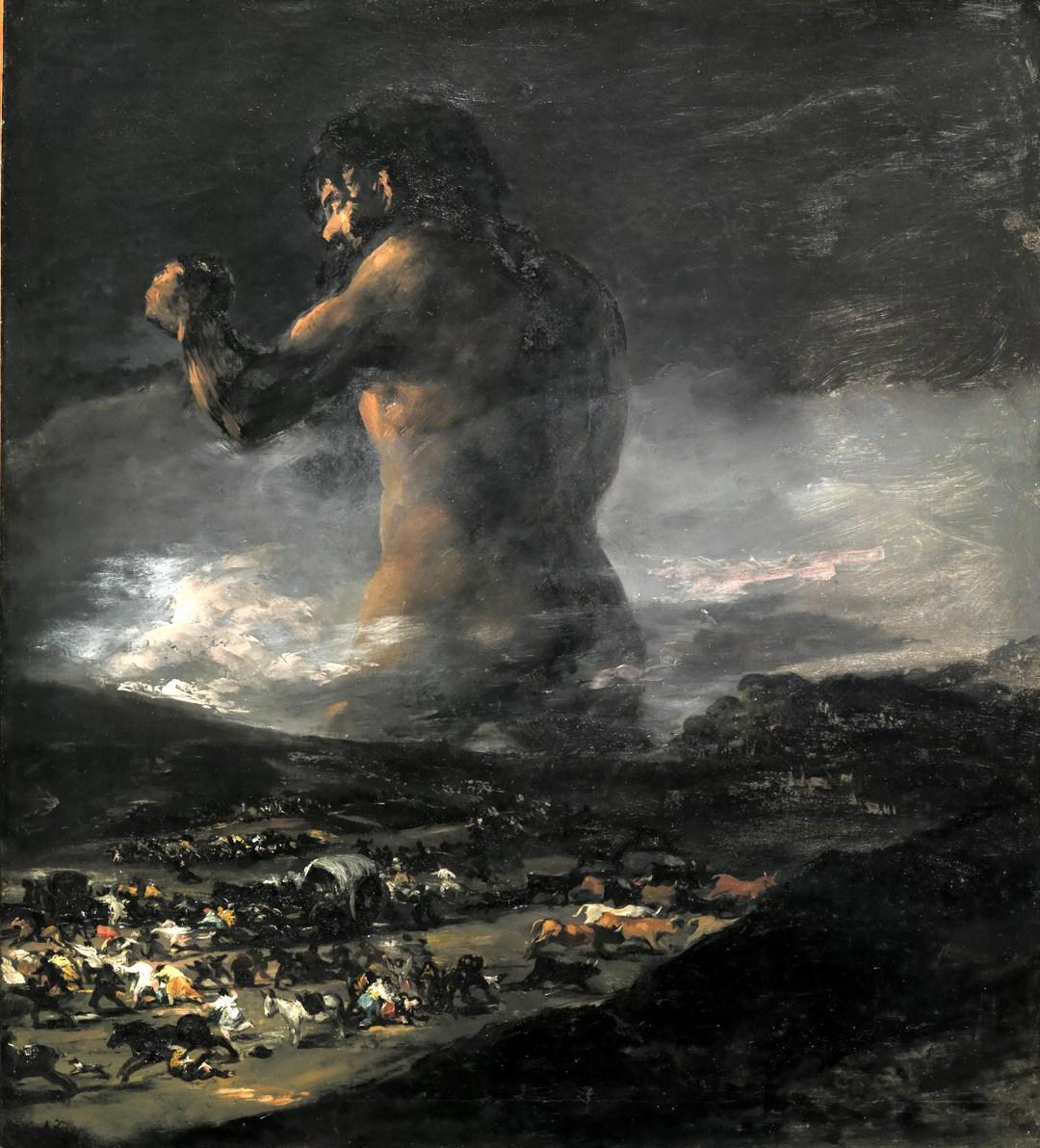 """""""Il Colosso"""" di Francisco Goya"""