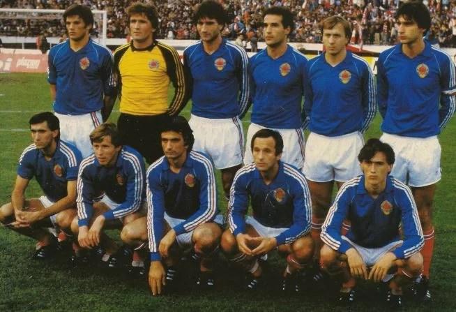 La nazionale di calcio jugoslava. fonte: foxsports.it
