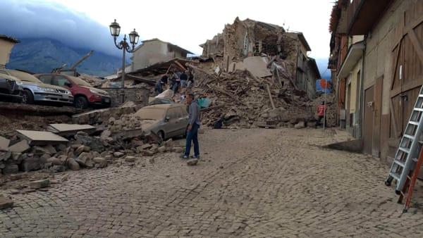 Terremoto ad Amatricia del 24 agosto 2016. Fonte: www.romatoday.it