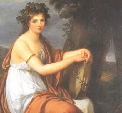 Ritratto di giovinetta in veste di baccante Angelica Kauffmann