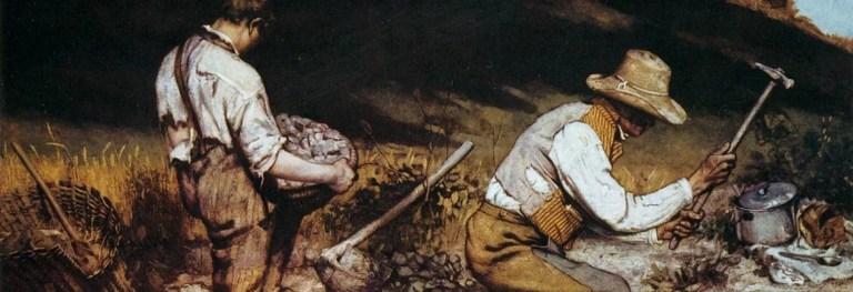 «Gli spaccapietre» di Courbet: il crudo realismo della miseria