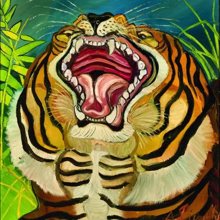 testa di tigre di antonio ligabue