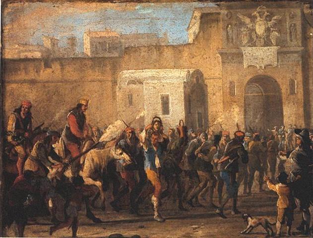 «Punizione dei ladri al tempo di Masaniello», Micco Spadaro, circa 1647