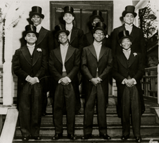 Martin Luther King, Jr. is on the right in the front row.