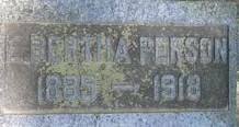 E. Bertha Person is buried in Ann Arbor, Michigan (Photo courtesy of findagrave.com)
