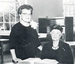 Dr. Blanche Dow, President of Cottey College with Blanche Skiff Ross