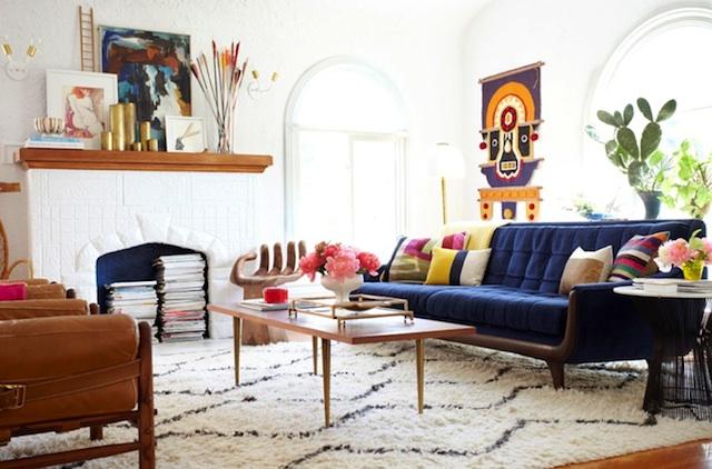 Looks for Less:  Modern Bohemian Living Room