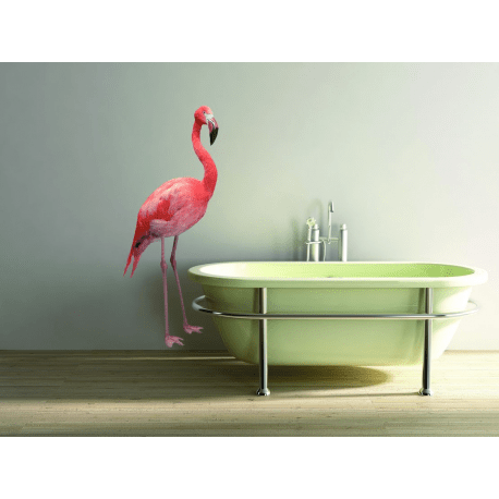 Sticker XXL Mural Le Flamant Rose Fabricant PLAGE 100