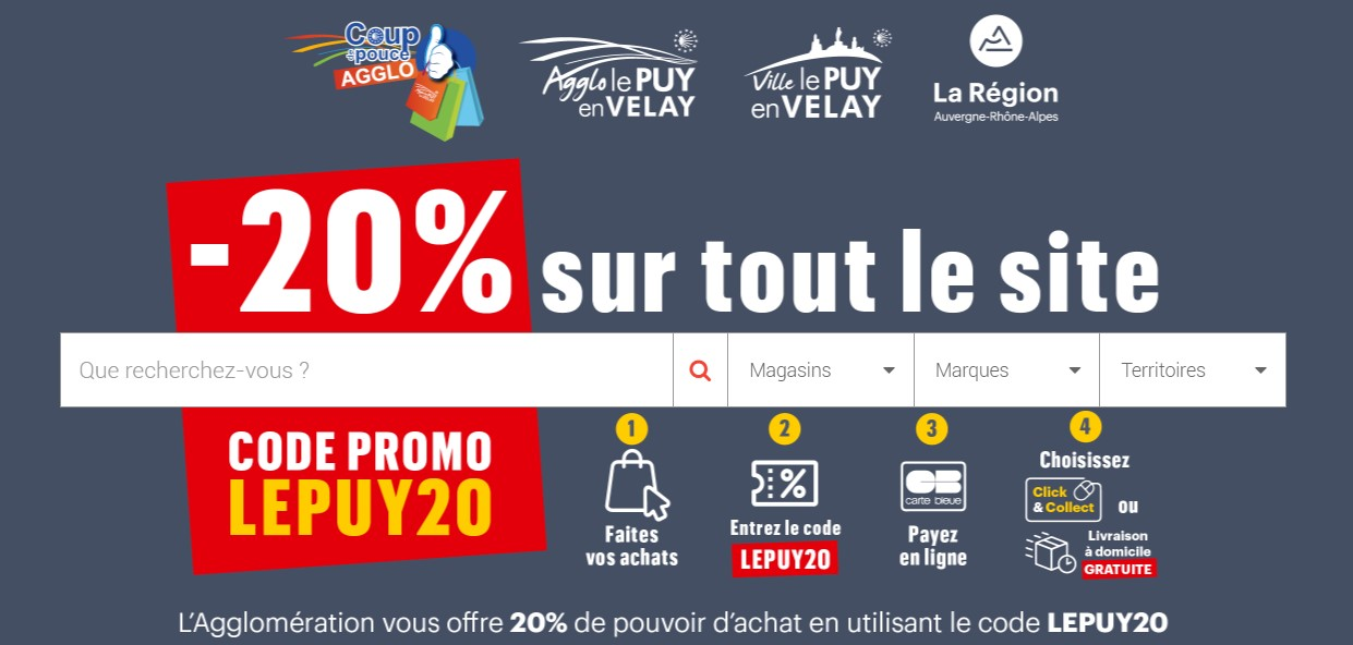 Promotion -20% sur le site AchetezauPuy