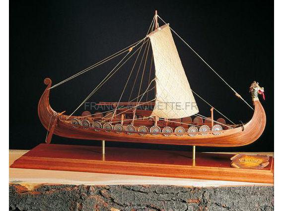 Maquette Bateau Bois Drakkar Viking 150 Amati 1406 01