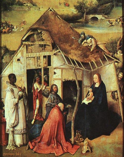 Adoration des mages. Peinture de Jérôme Bosch