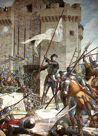Jeanne d'Arc au siège d'Orléans. Peinture de Jules Eugène Lenepveu