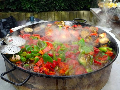 Steaming hot ratatouille