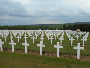 A view of the Douaumont cemetery
