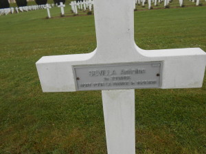 The grave of Pvt.2nd Class Antoine Sevilla, born in colonial Algeria, who was killed at Verdun, aged 27.