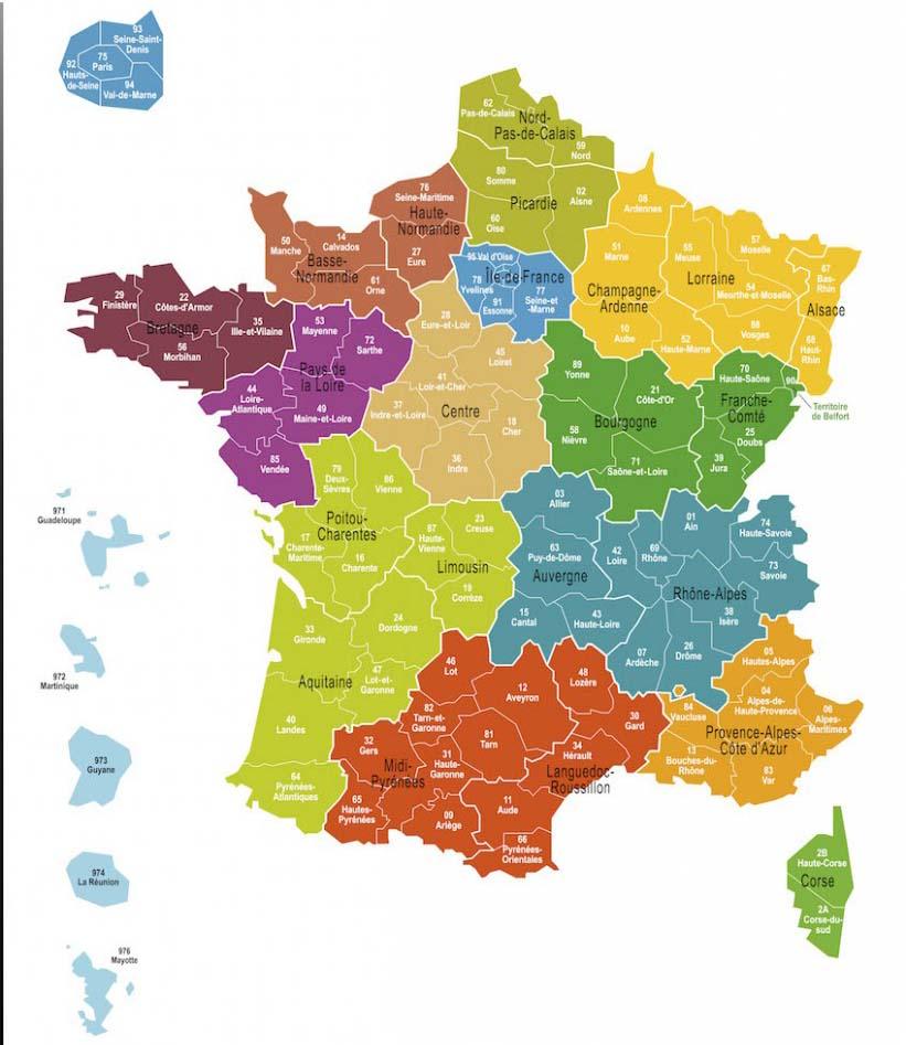 France Regions Explained France Travel Info