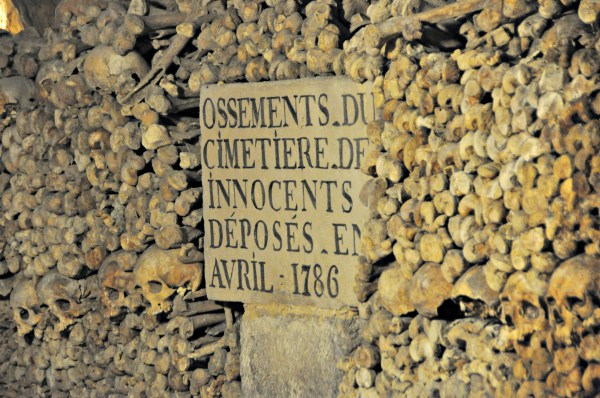 Bones of the Cemetery of Innocents Registered in April 1786