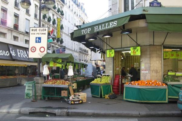 Rue-cler Market Street budget paris