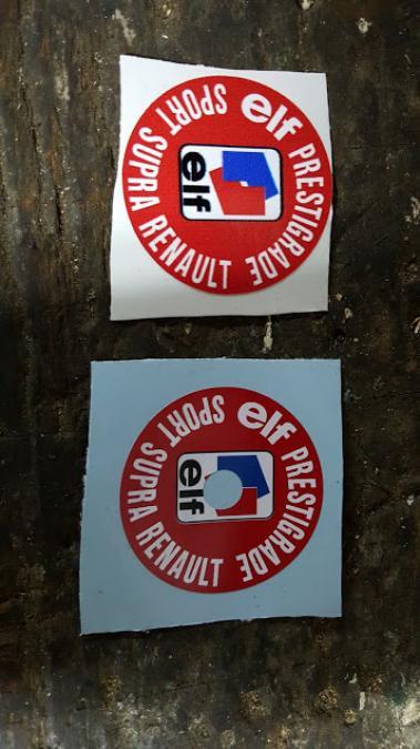 Troc Echange Sticker Bouchon Huile Renault Elf Sur France