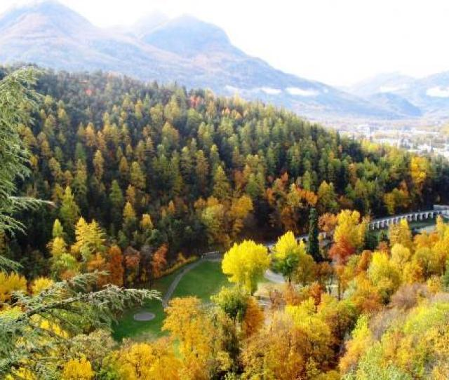 View Of The Park And The Valley Of Briancon