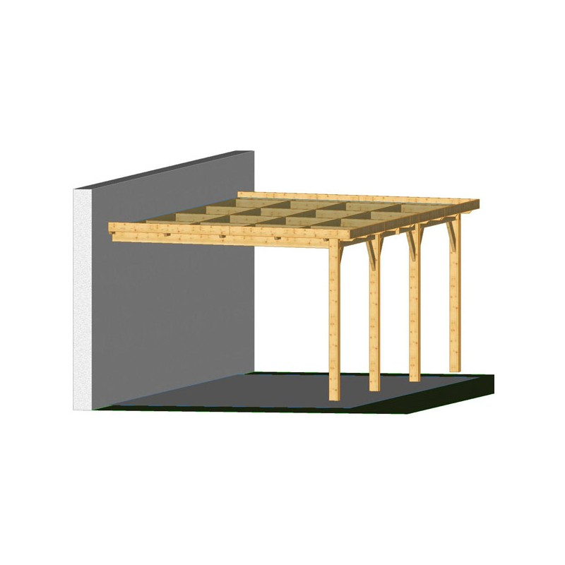 ossature bois charpente toit plat