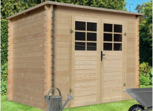 abri de jardin en bois a toit plat