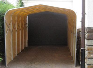 Garage Pvc Pliant Repliable Un Abri Voiture Temporaire