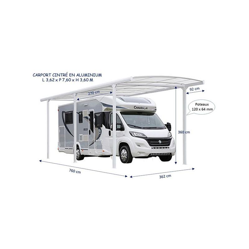 Abri Camping Car Cintre Carport Aluminium Pas Cher