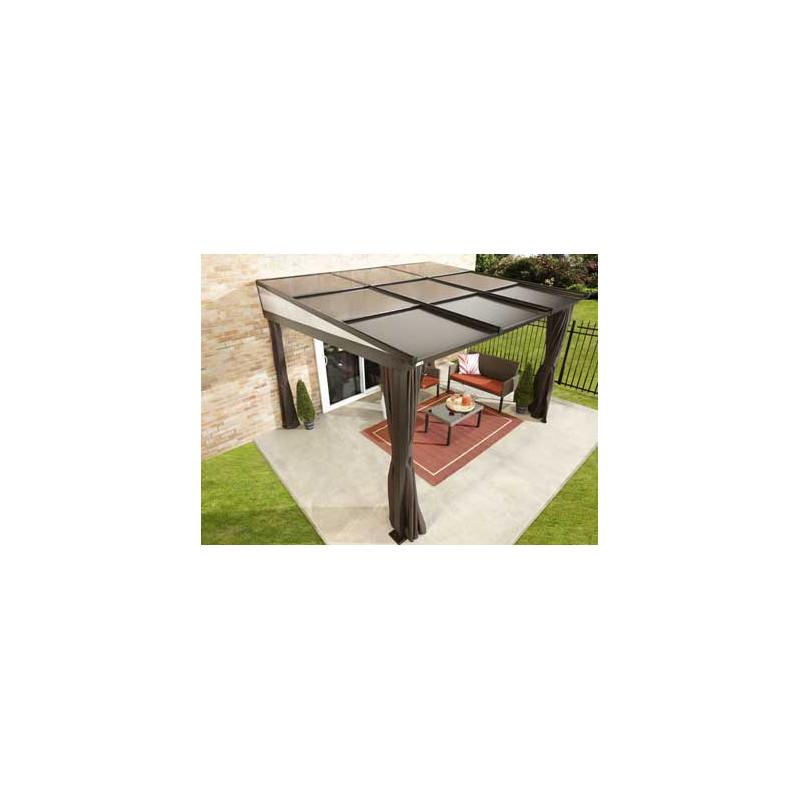 pergola adossee en aluminium avec toit