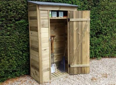 rangement outils de jardin en bois ce